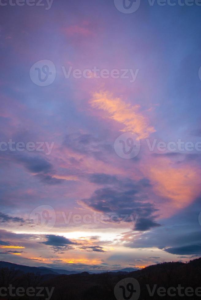 magie violet orange soleil rayons de soleil photo