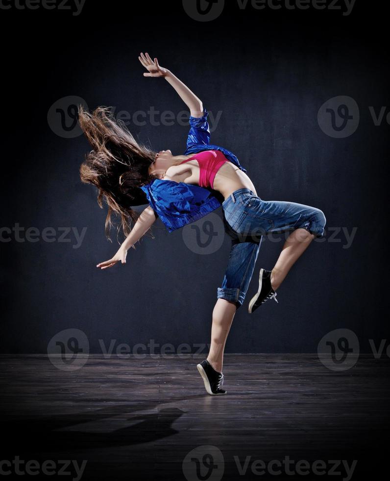 fille danseuse moderne (ver foncé) photo