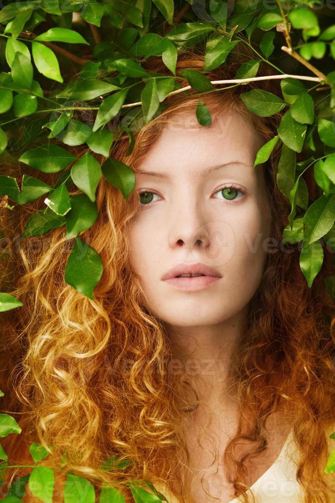 femme dans la nature photo