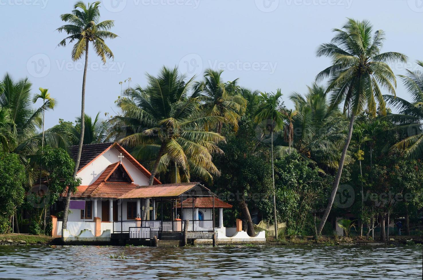 Église rurale à Alappuzha Backwaters, Inde du Sud, Kerala, UNESCO photo