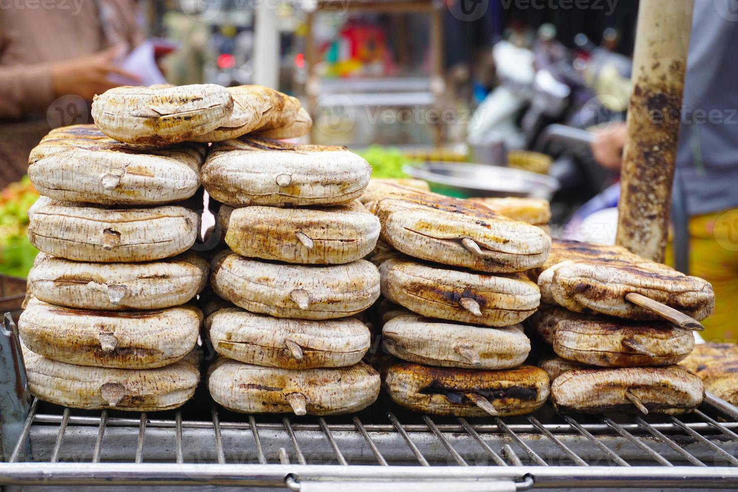 gâteau de riz à la banane de spécialité vietnamienne photo