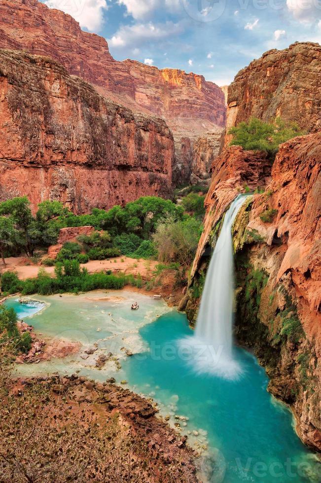 belles chutes havasu, supai, arizona, états-unis photo