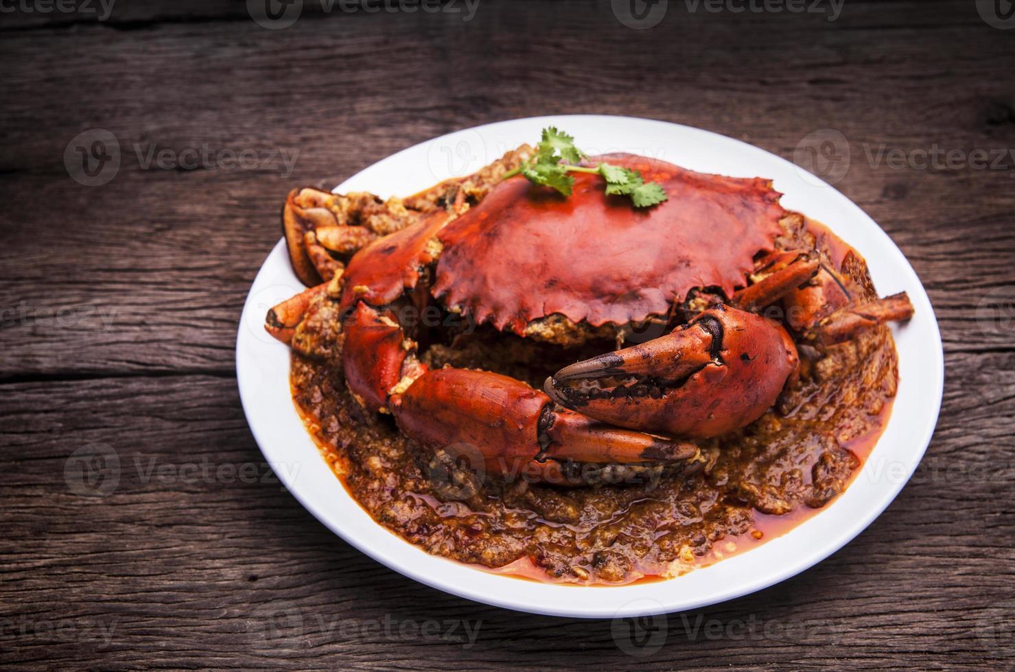 piment crabe cuisine asiatique. photo