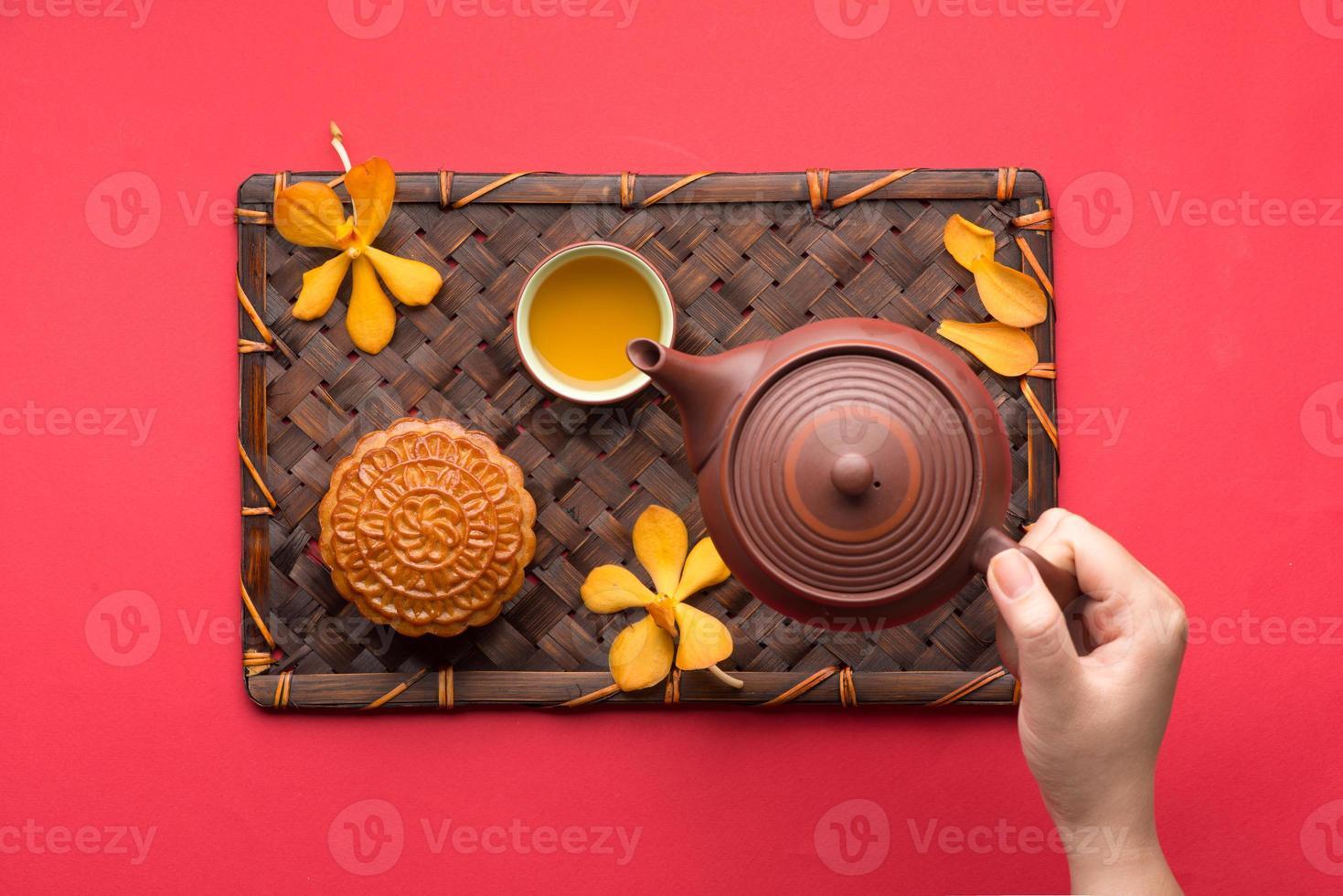 mooncake et thé photo