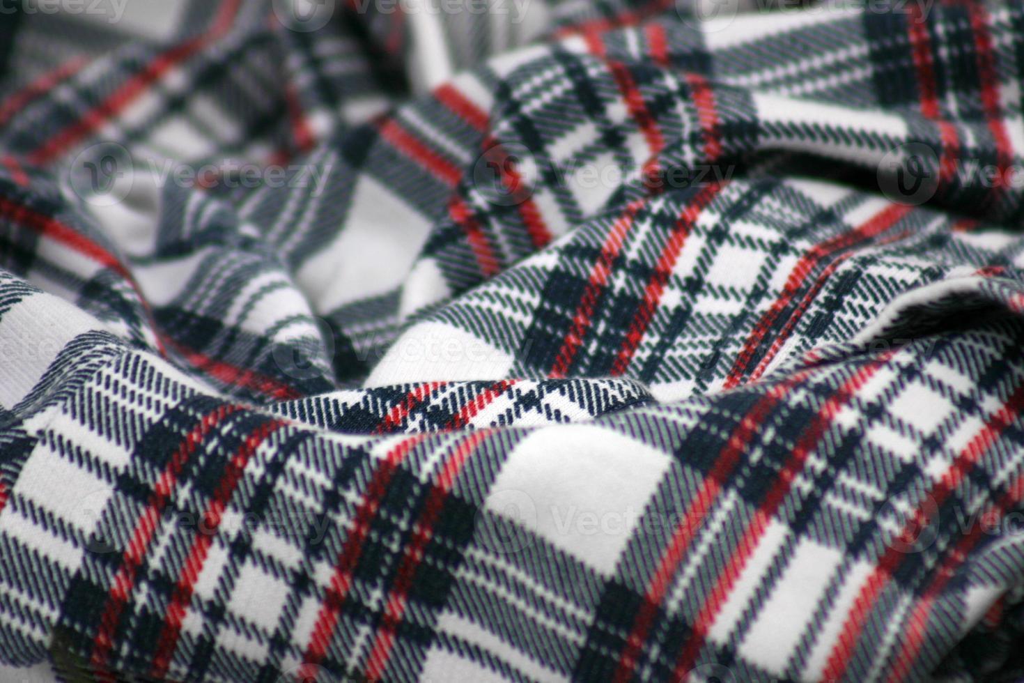 tissu écossais écossais photo