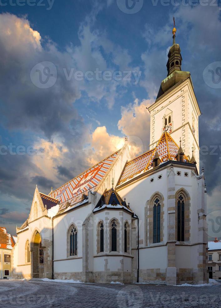 st. L'église de Mark à Zagreb, Croatie. photo