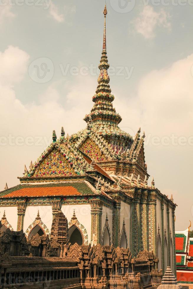 Wat Phra Kaeo, Temple du Bouddha d'émeraude Bangkok, Asie photo