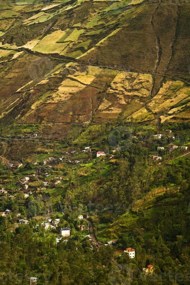 belle ville andine de canar en azogues équateur photo