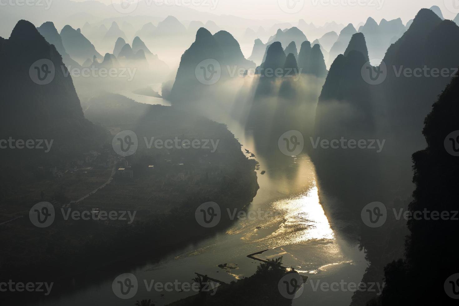 lever du soleil de lijiang photo