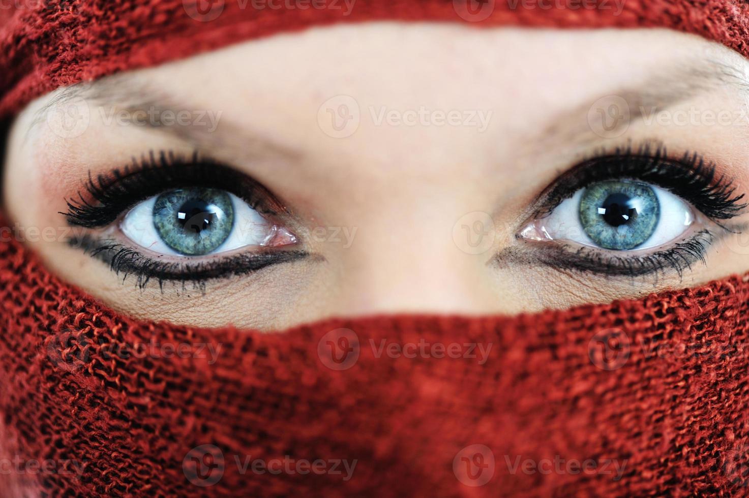 femme avec voile photo