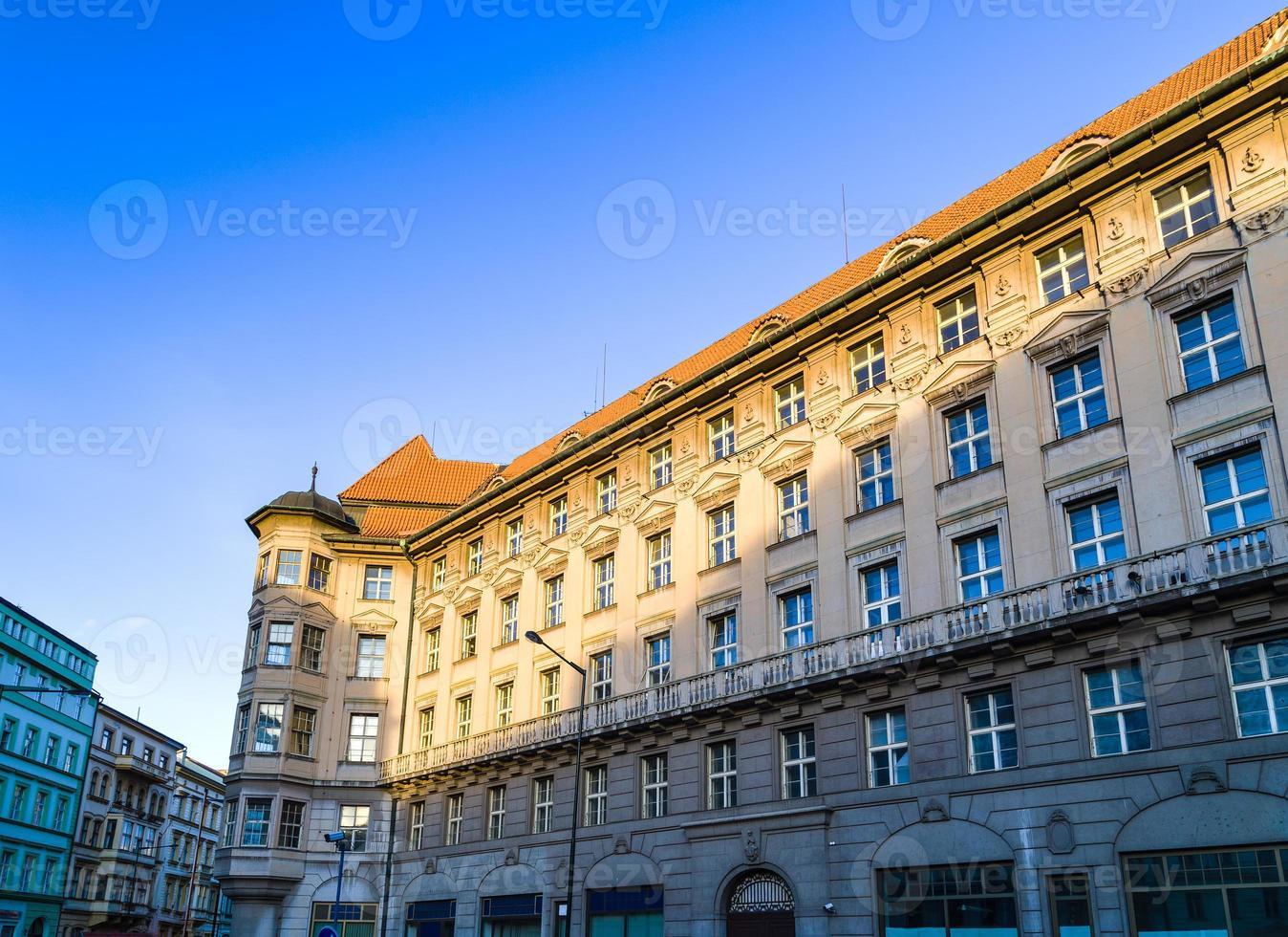 Prague: détails des bâtiments et de l'architecture photo
