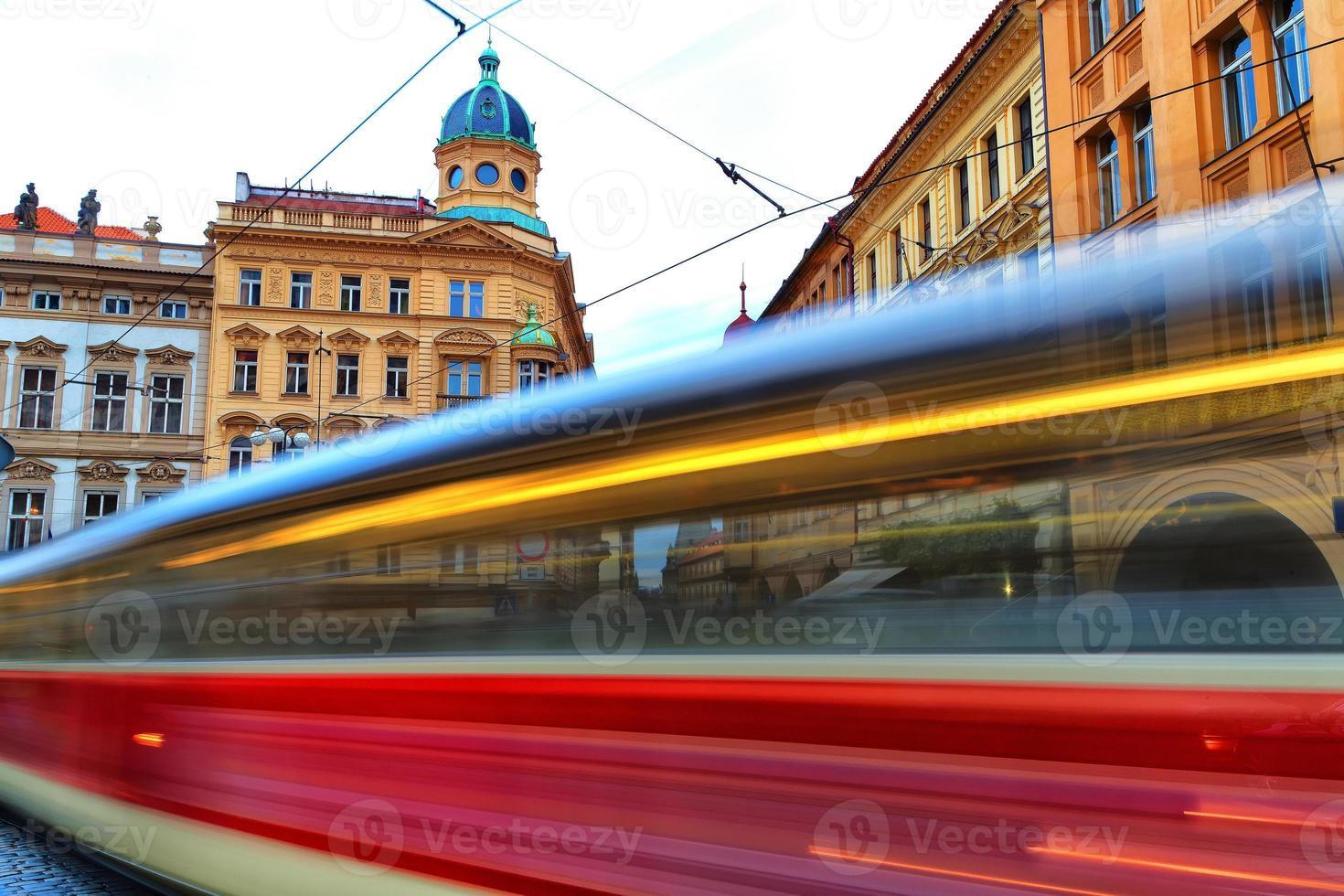 architecture et transports de prague photo
