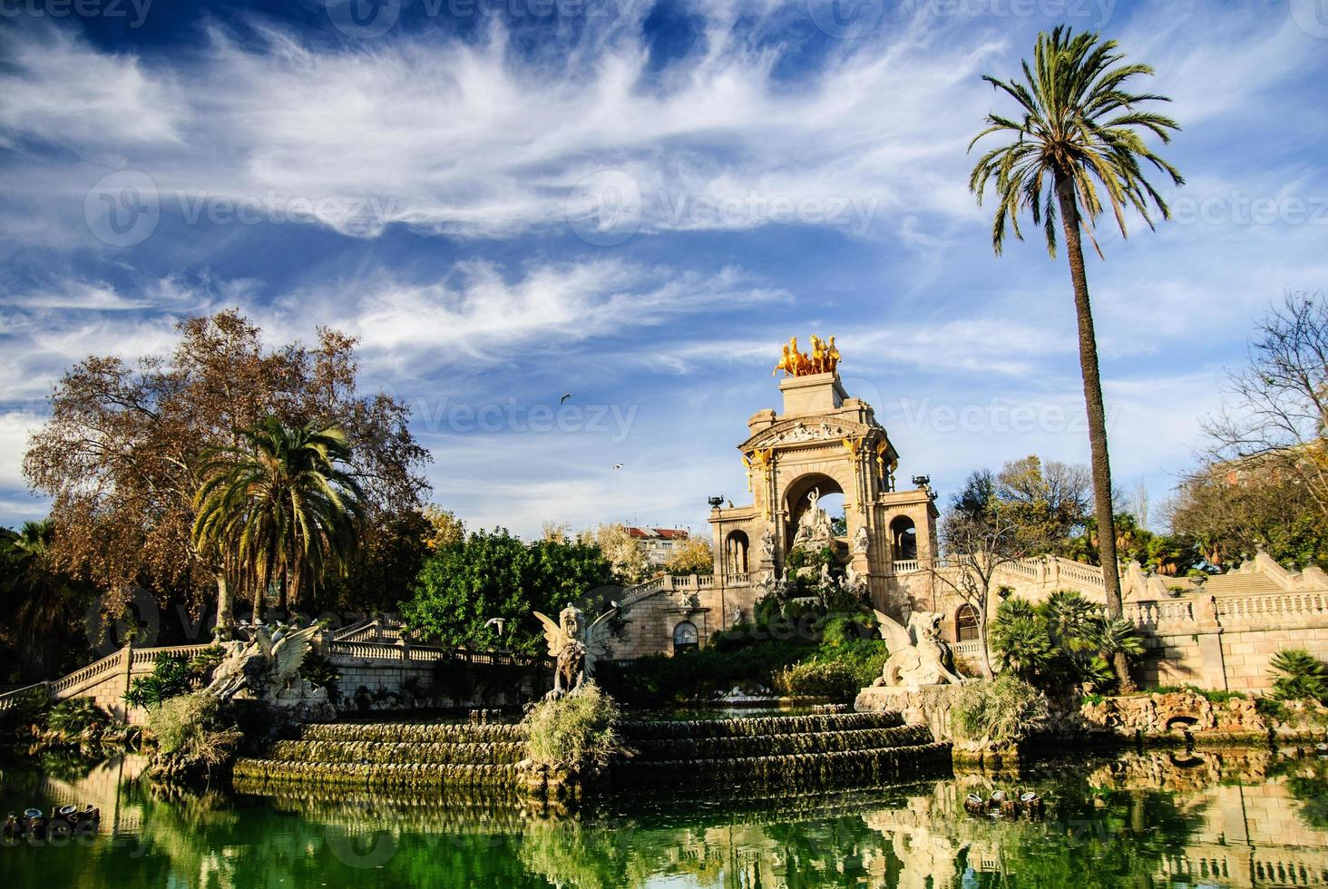 fontaine pittoresque dans le parc de la ciutadella, barcelone photo