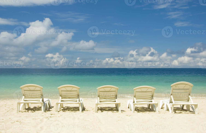chaises de plage photo