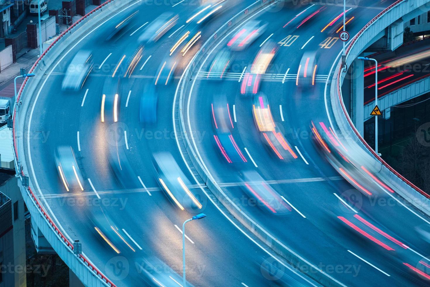 Gros plan des voies courbes photo