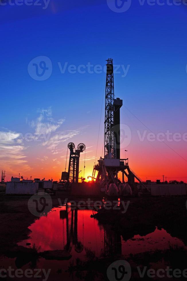 plate-forme de forage pétrolier photo