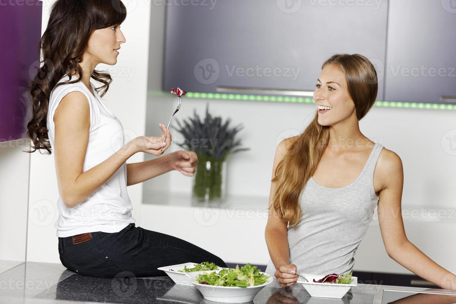 deux amis, confection, salade photo