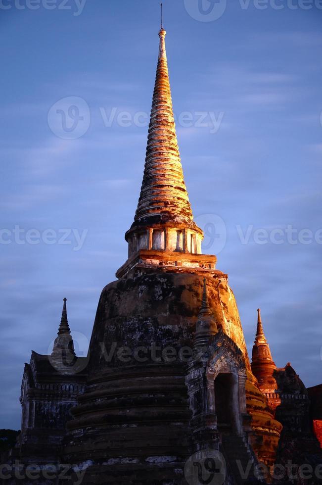 Wat Phra Sri Sanphet en Thaïlande photo