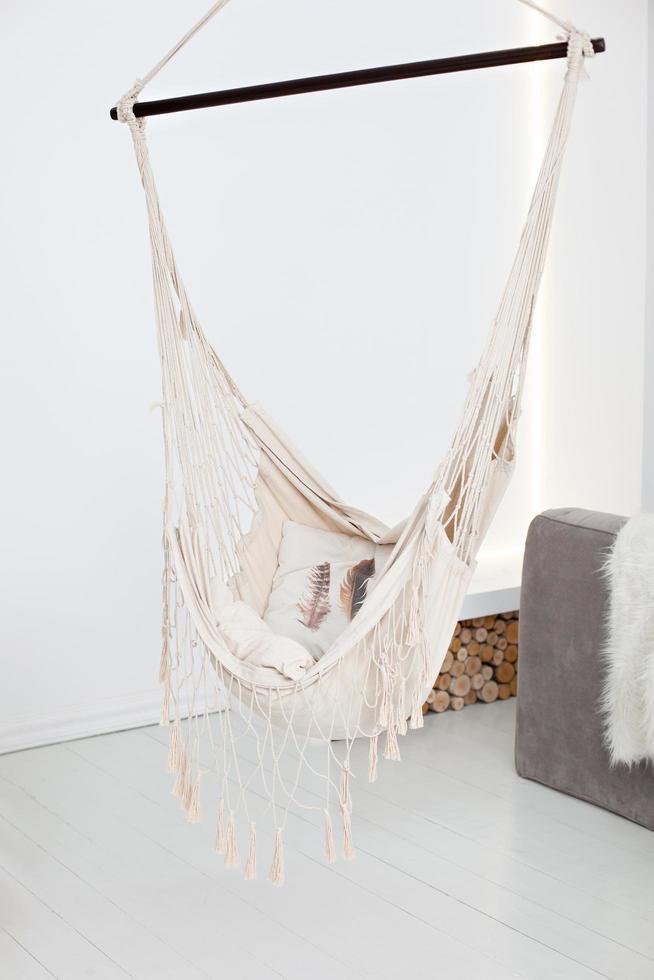hamac moderne à l'intérieur du salon photo