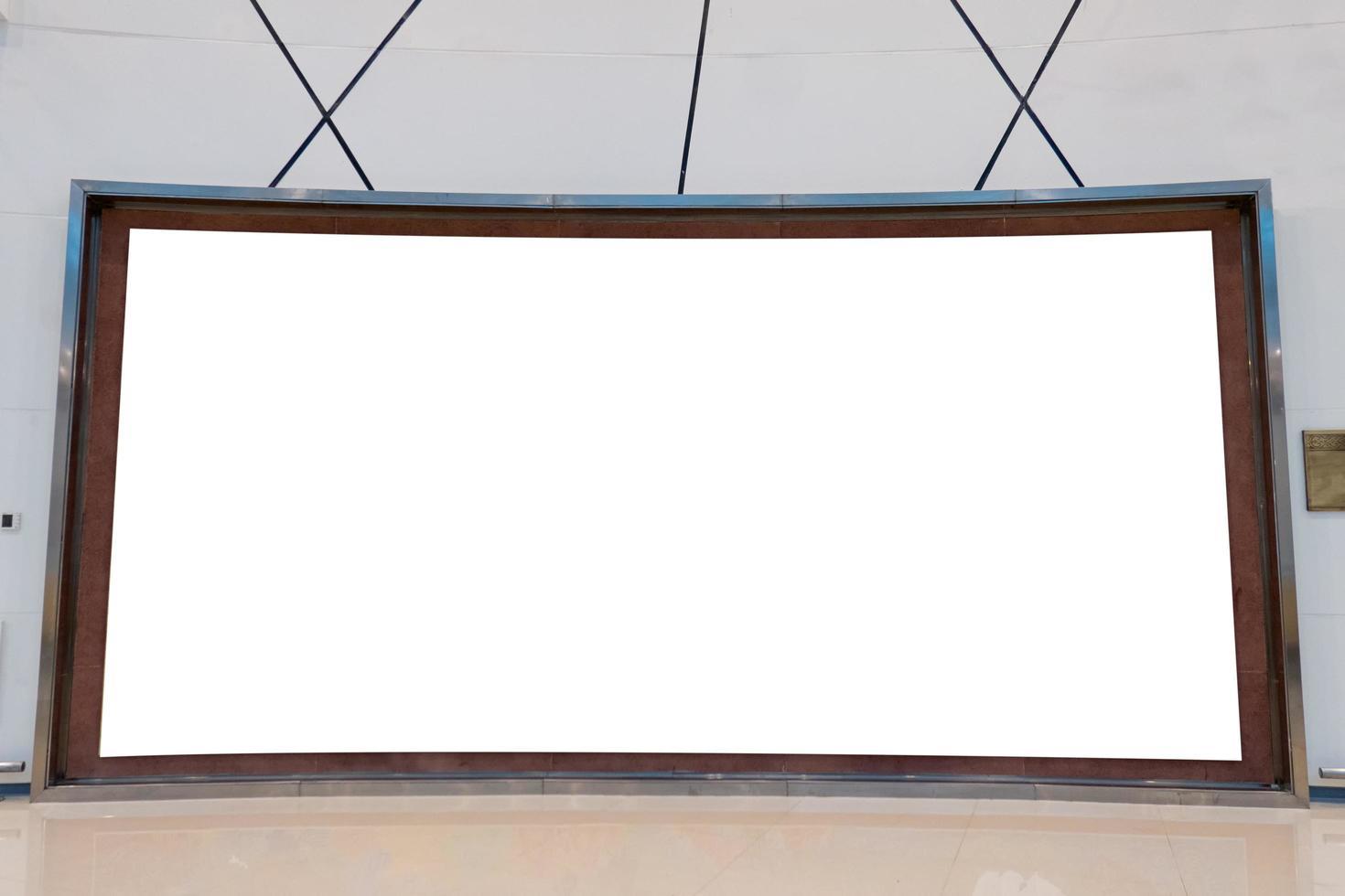 grand modèle de panneau d'affichage rectangulaire photo