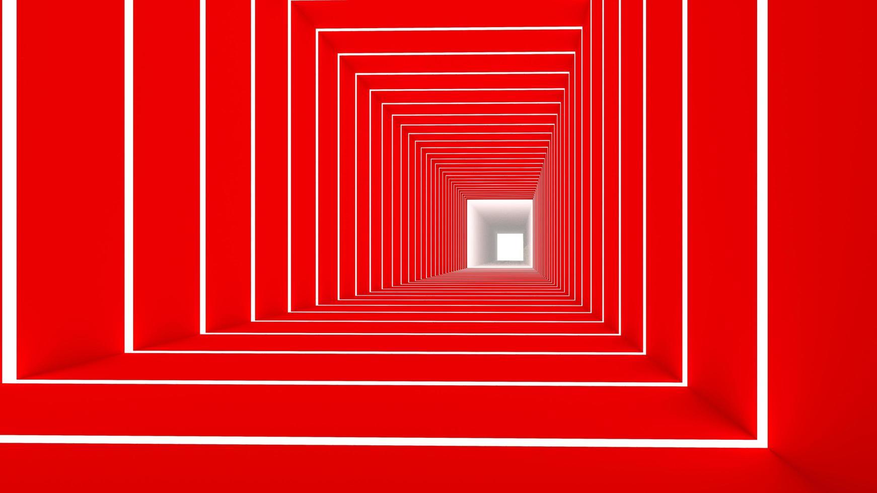 Rendu 3D du rectangle rouge photo