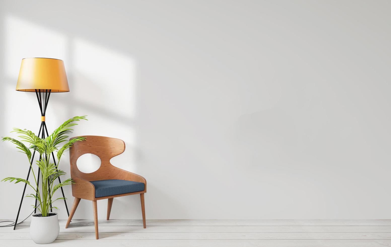 ensemble de salon avec mur blanc photo