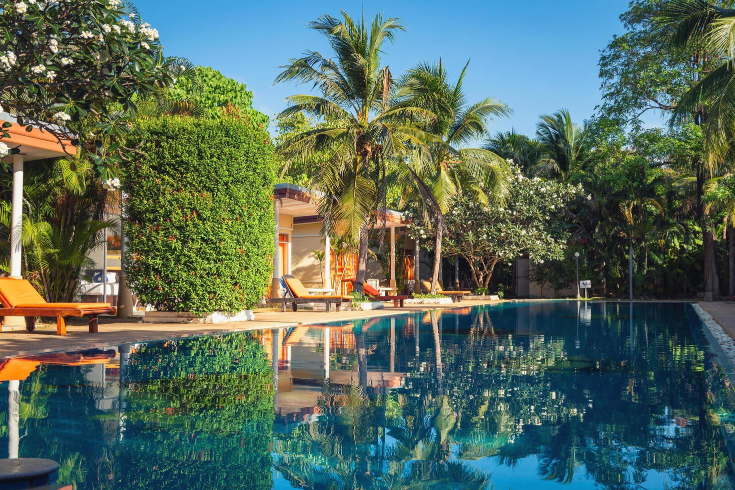 scène de piscine au resort photo