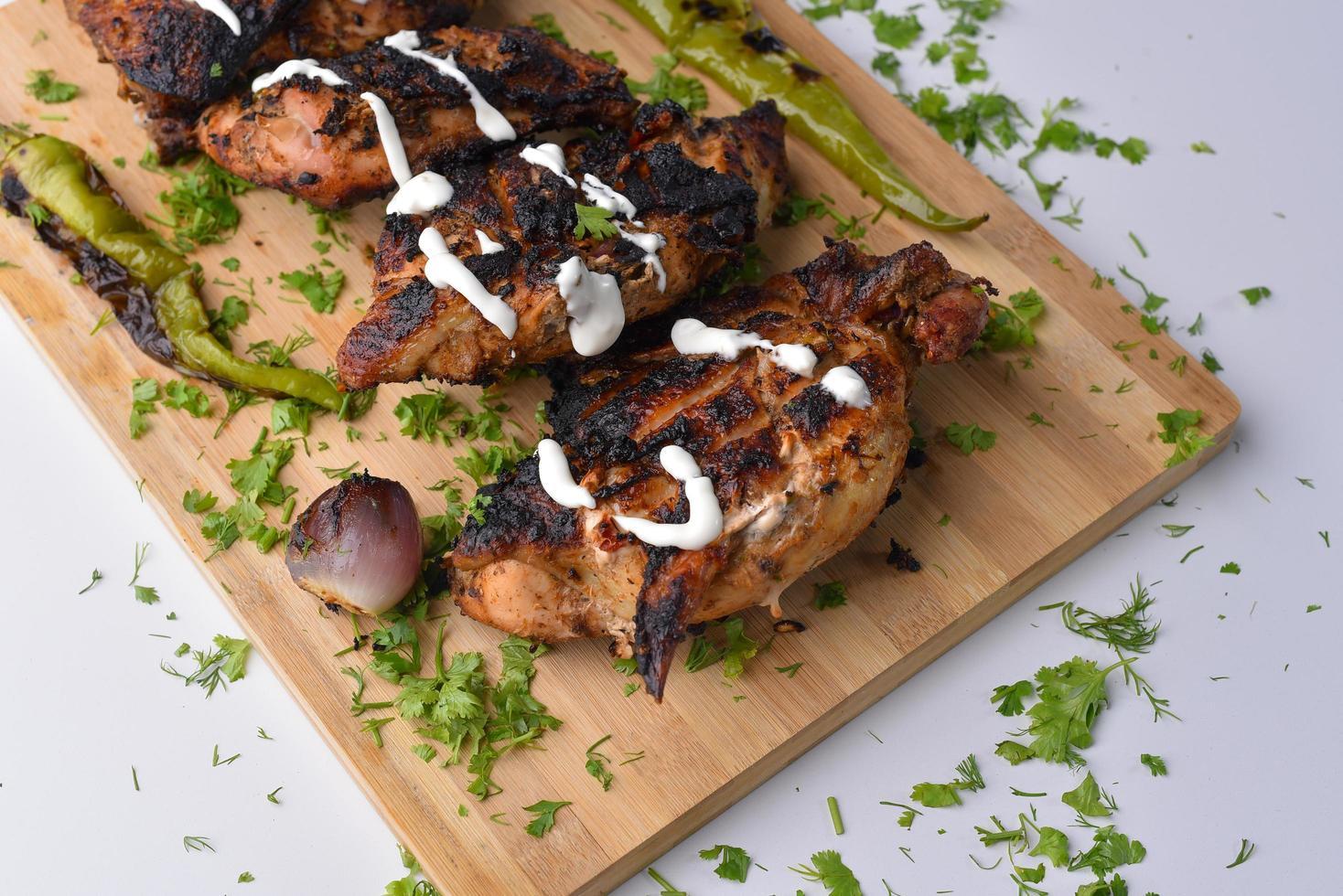 poitrine de poulet grillée photo
