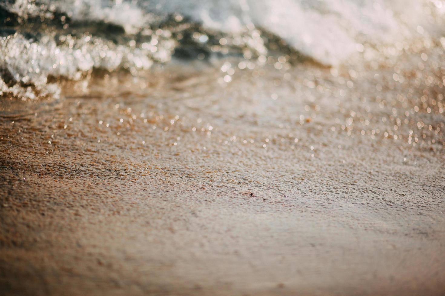 gros plan, de, sable, plage photo
