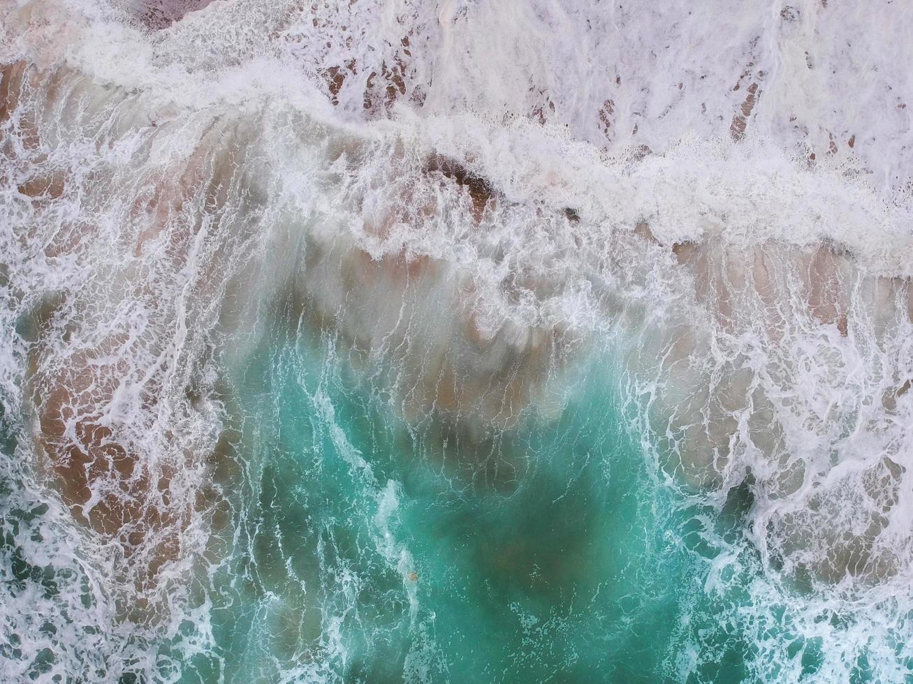 vagues de l'océan d'en haut photo