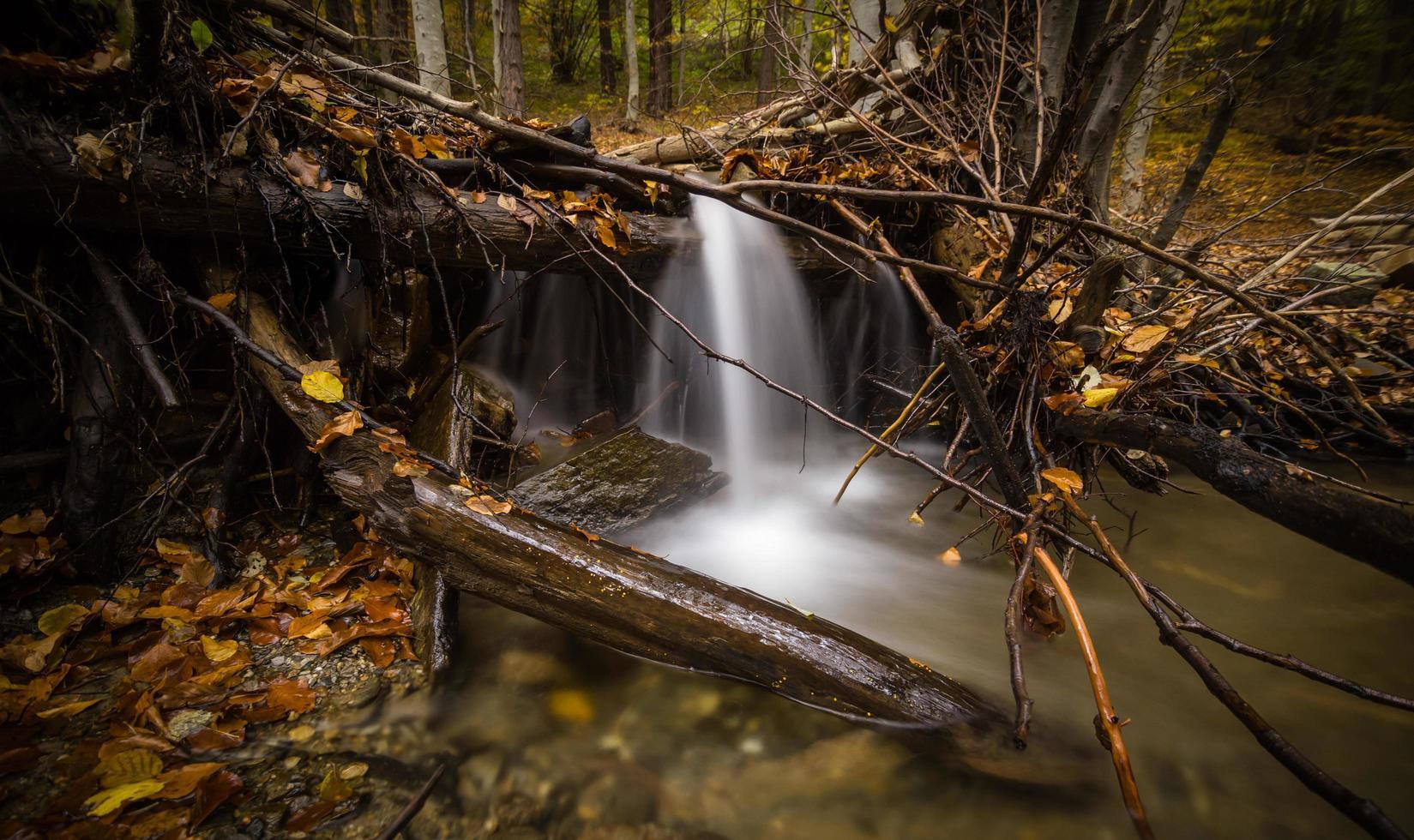 photographie time lapse de chutes photo