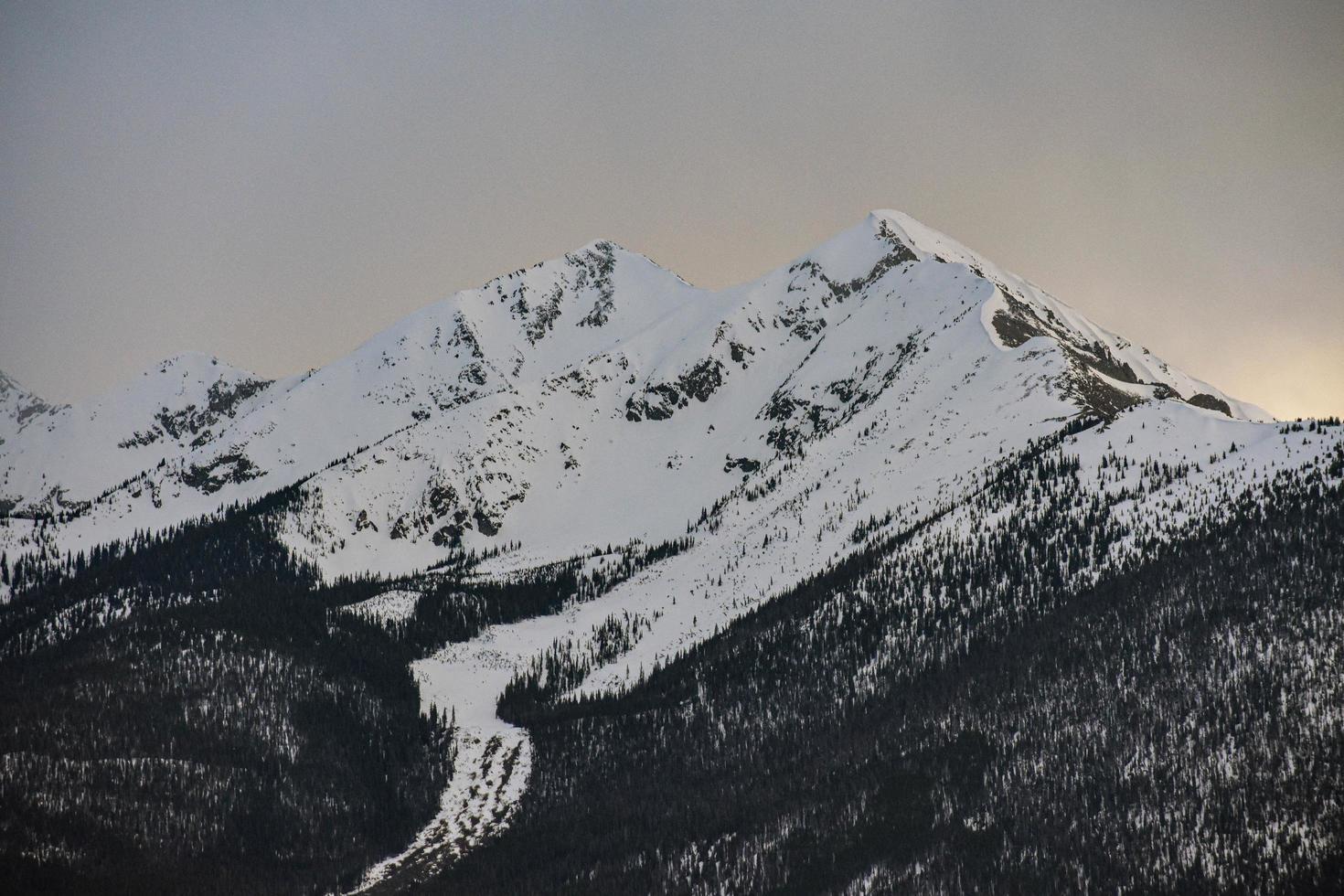 montagne couverte de neige photo