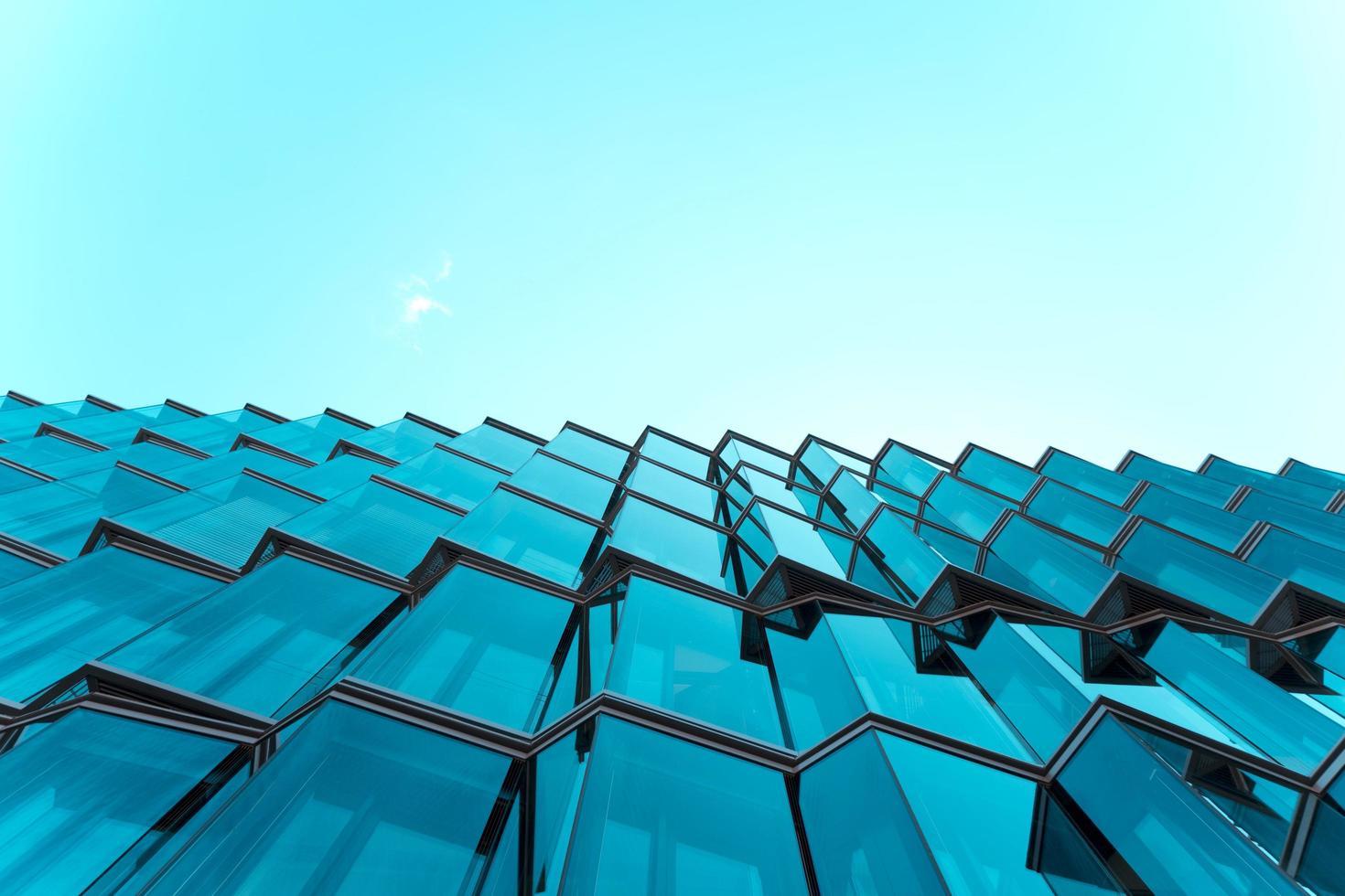 photographie architecturale du bâtiment en verre photo