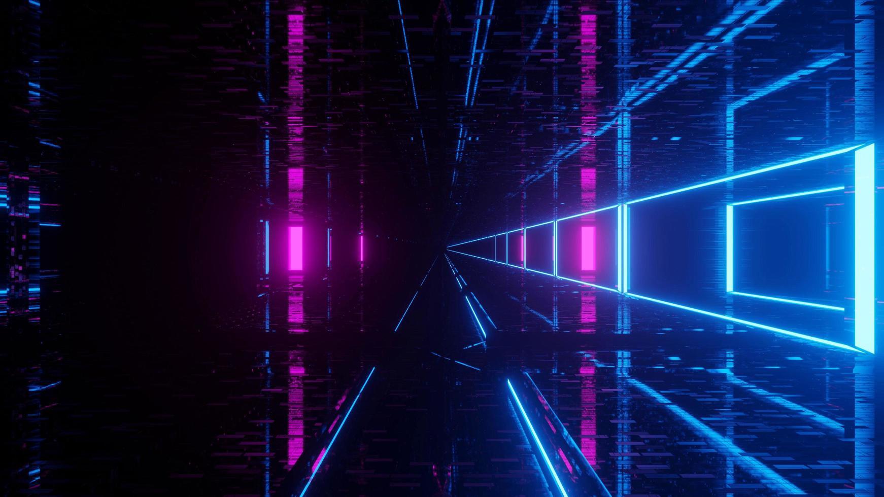 tunnel du cyber-monde émettant de la lumière photo