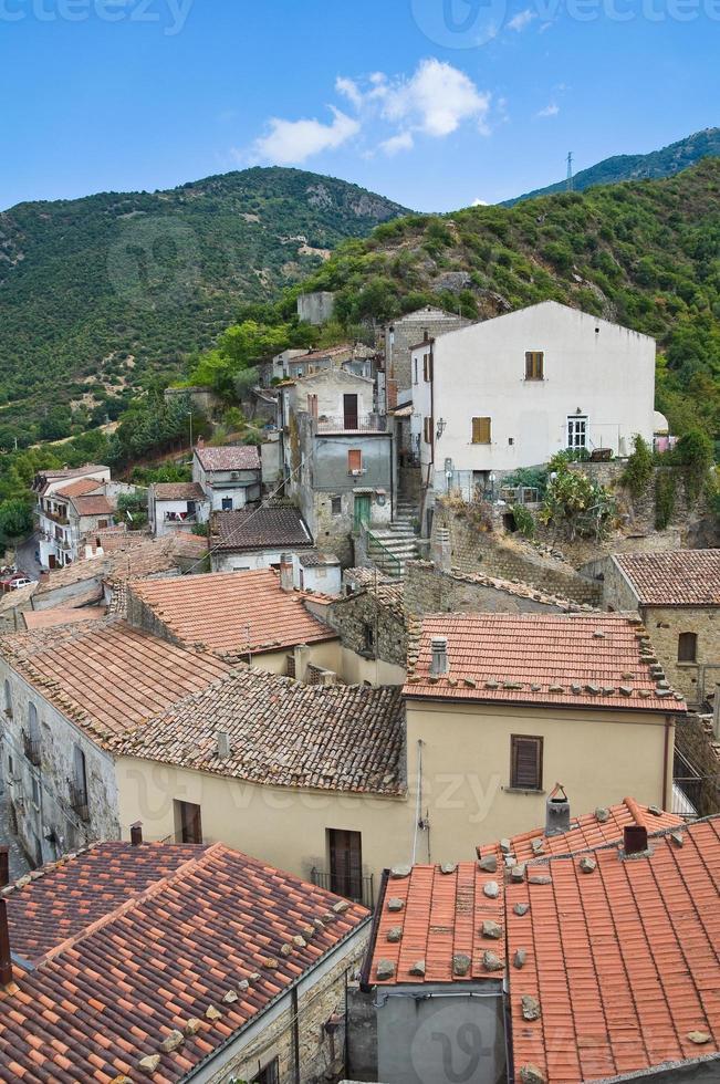 vue panoramique de valsinni. basilicata. Italie. photo