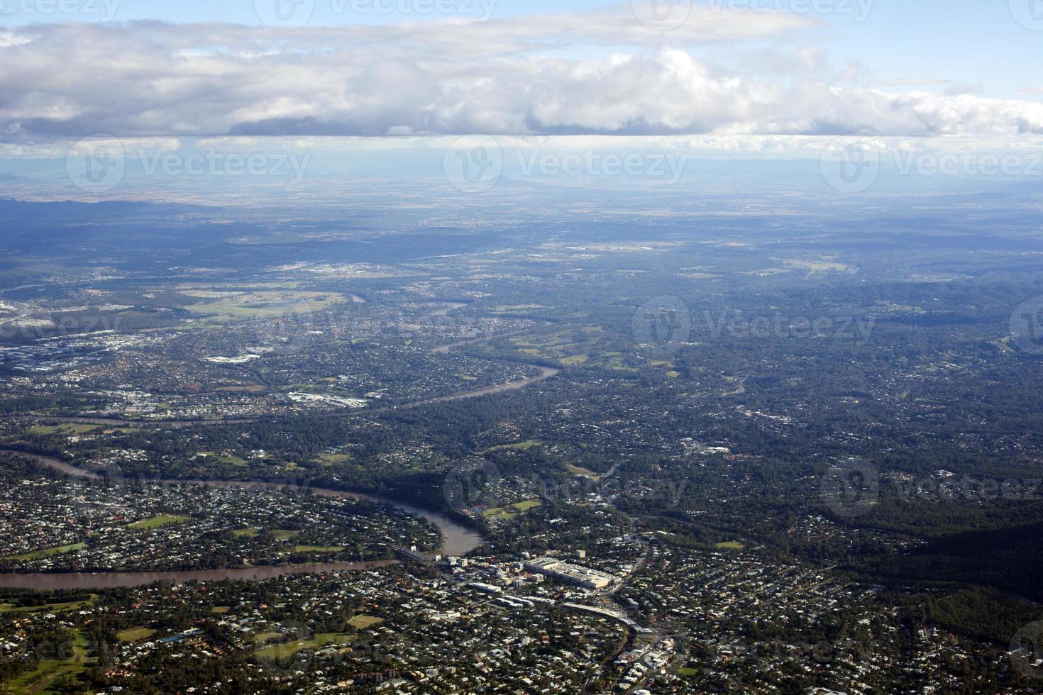 vue aérienne des subirbs photo