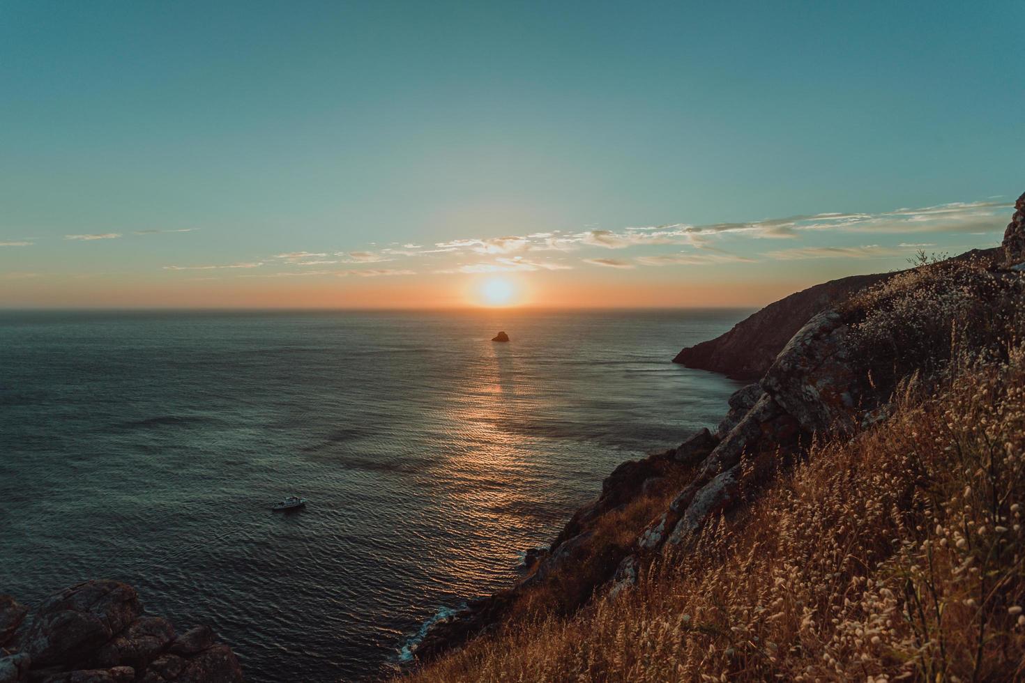 coucher de soleil depuis les falaises photo