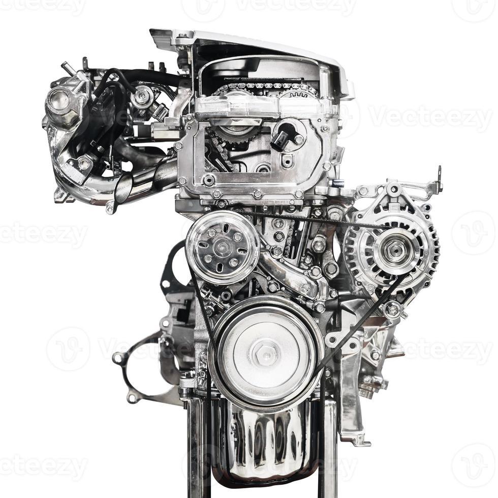 moteur de voiture isolé sur fond blanc photo