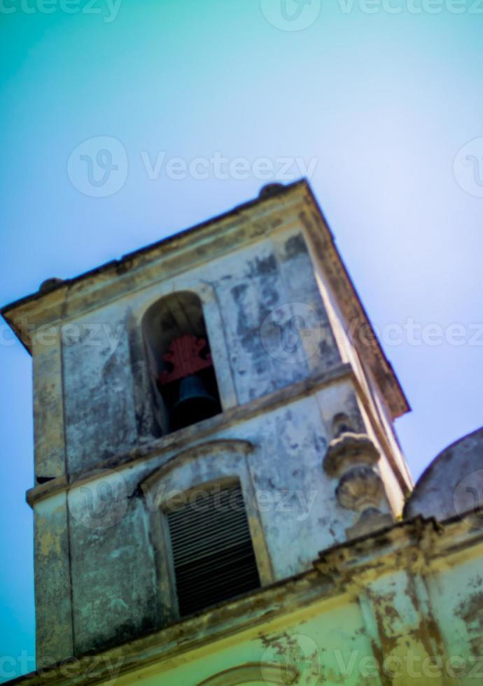 détail de la façade de l'église de são francisco. photo