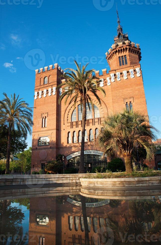 Château des dragons, barcelone espagne photo