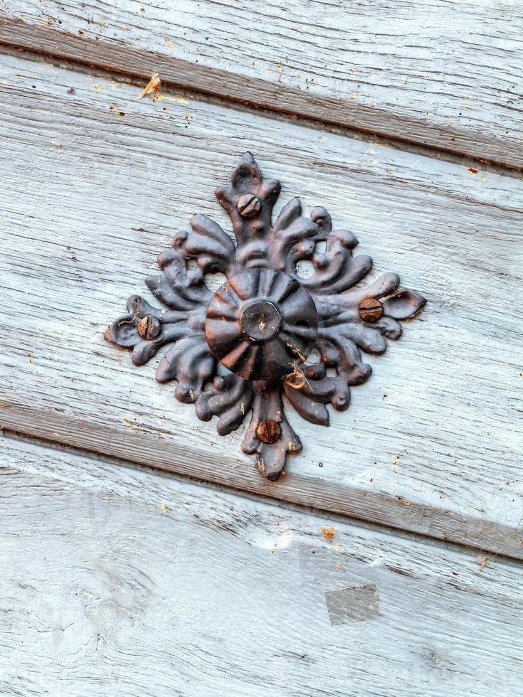 Poignée de porte vintage sur porte antique, arrière-plan photo