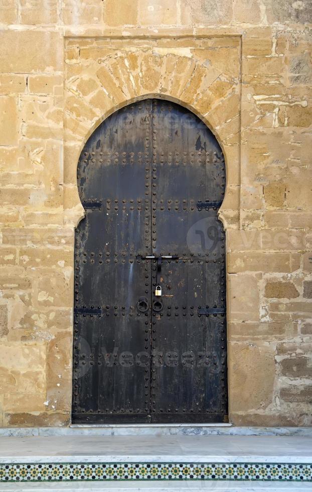 vieille porte marocaine photo
