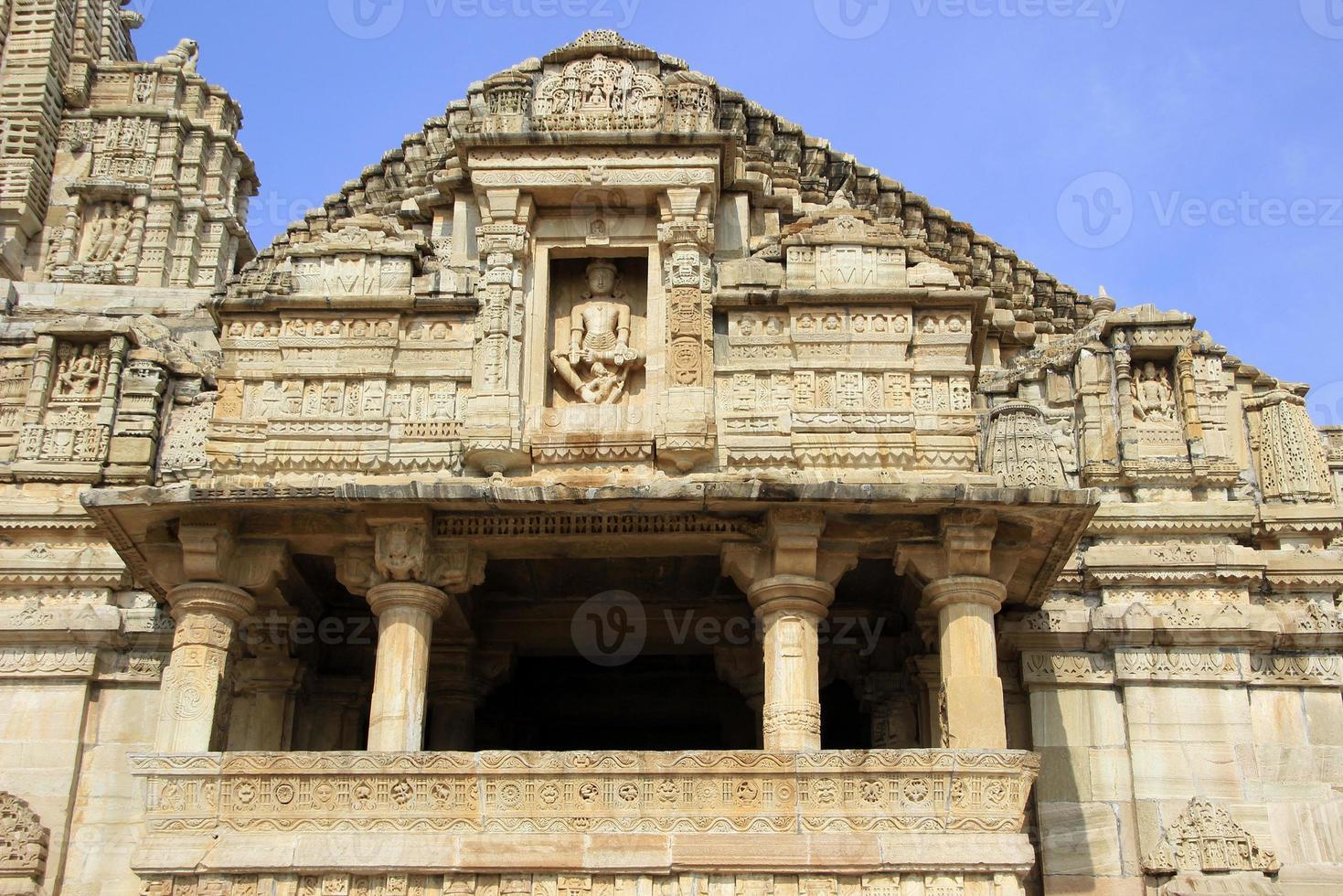 façade du temple de meera photo