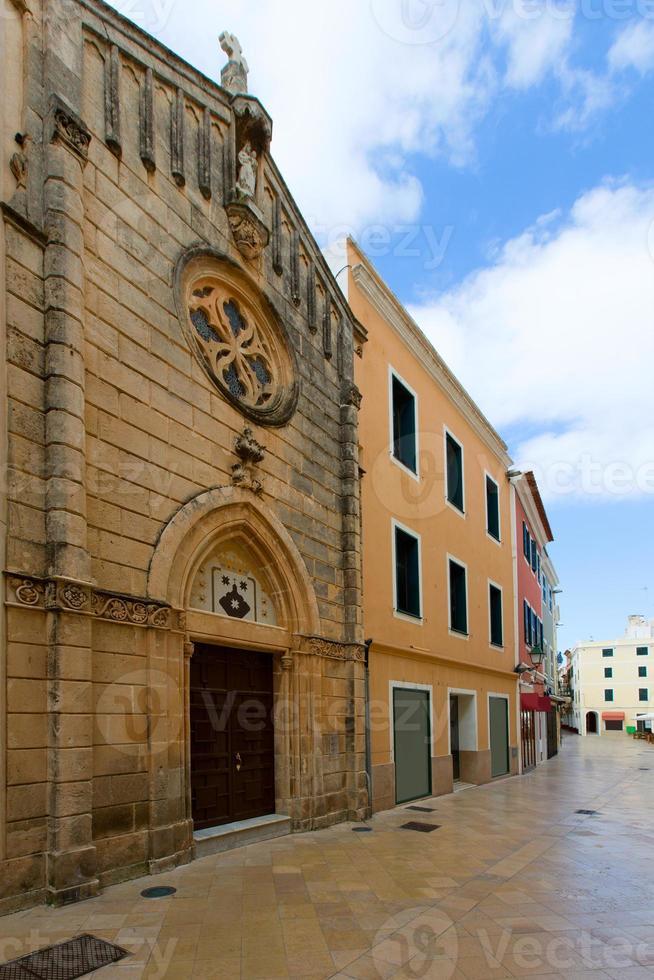 Ciutadella menorca église carrer mao centre-ville photo
