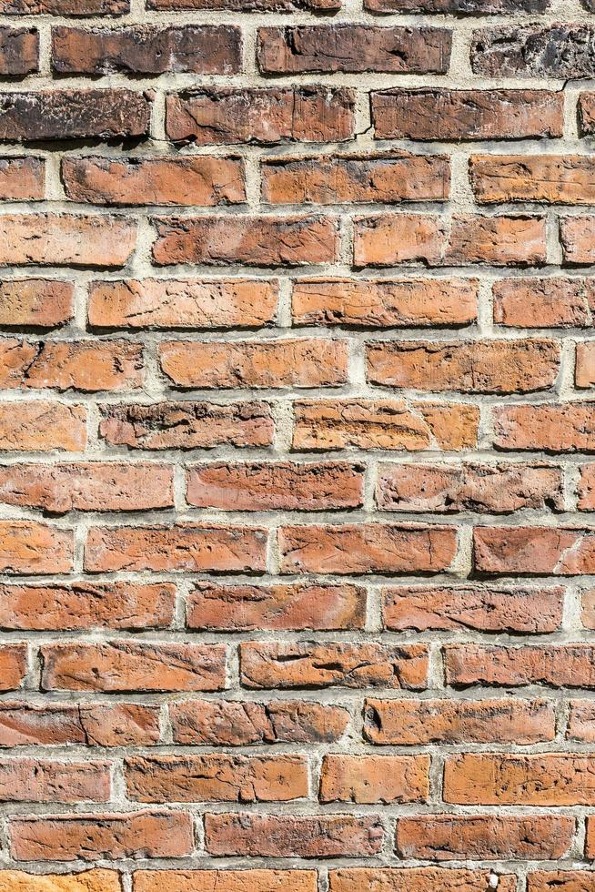 fragment de mur de briques rouges photo