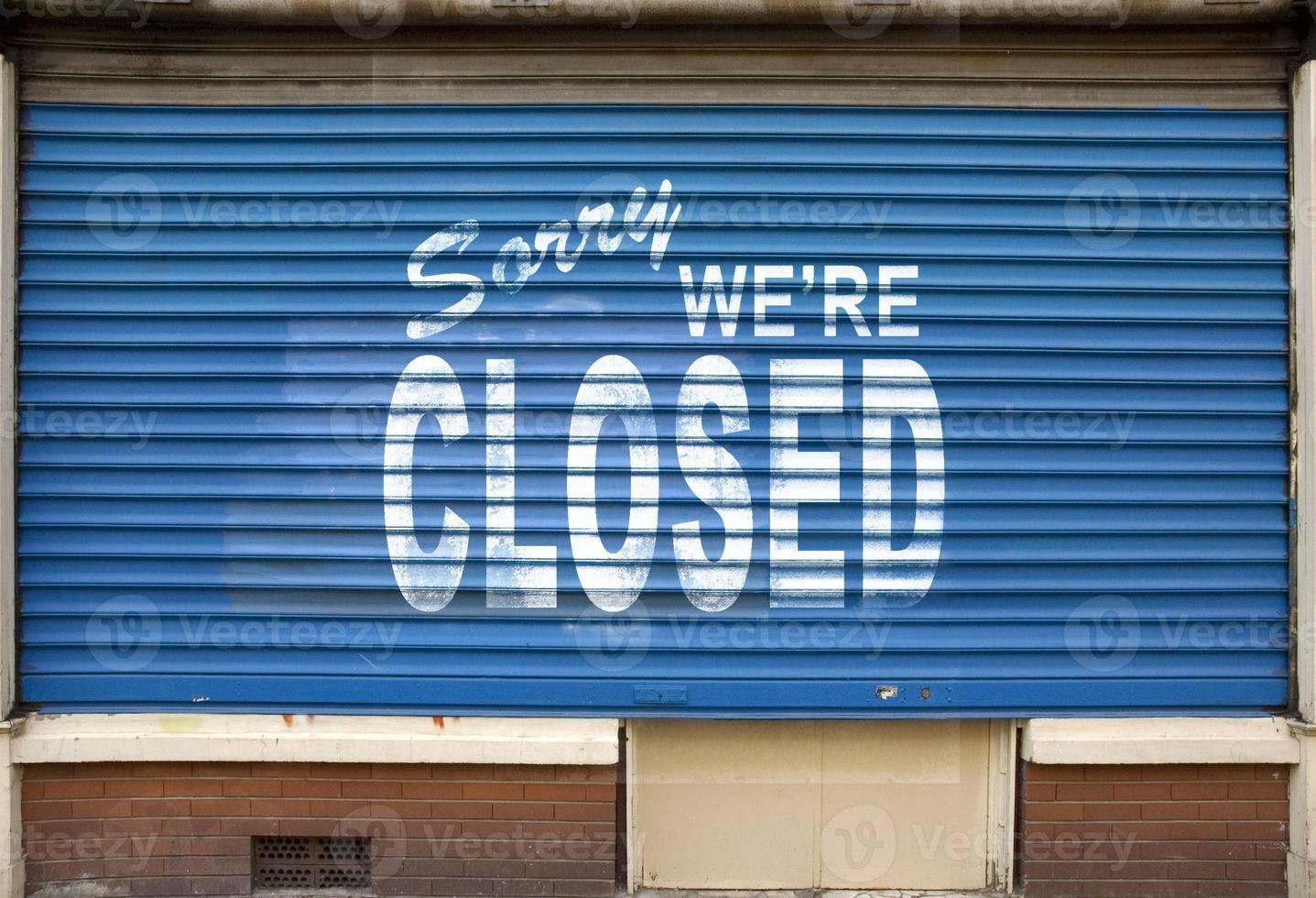 désolé nous sommes signe fermé photo