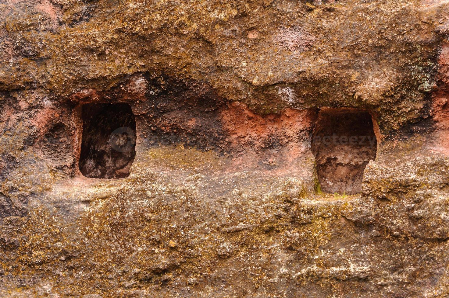 éthiopie, lalibela. église moniolitique taillée dans le roc photo
