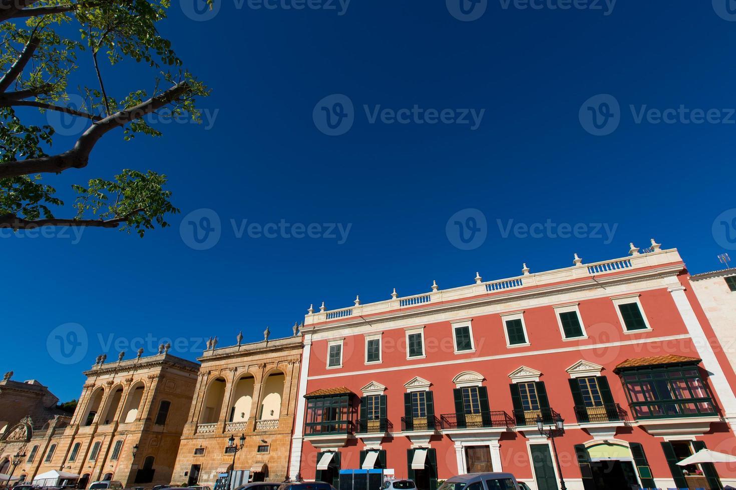 Ciutadella menorca placa des born centre-ville de ciudadela photo