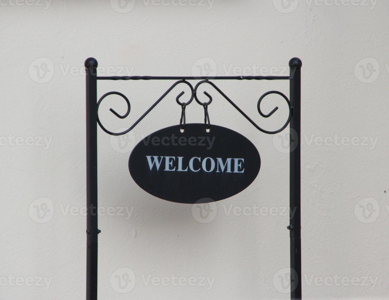 Panneau de bienvenue photo
