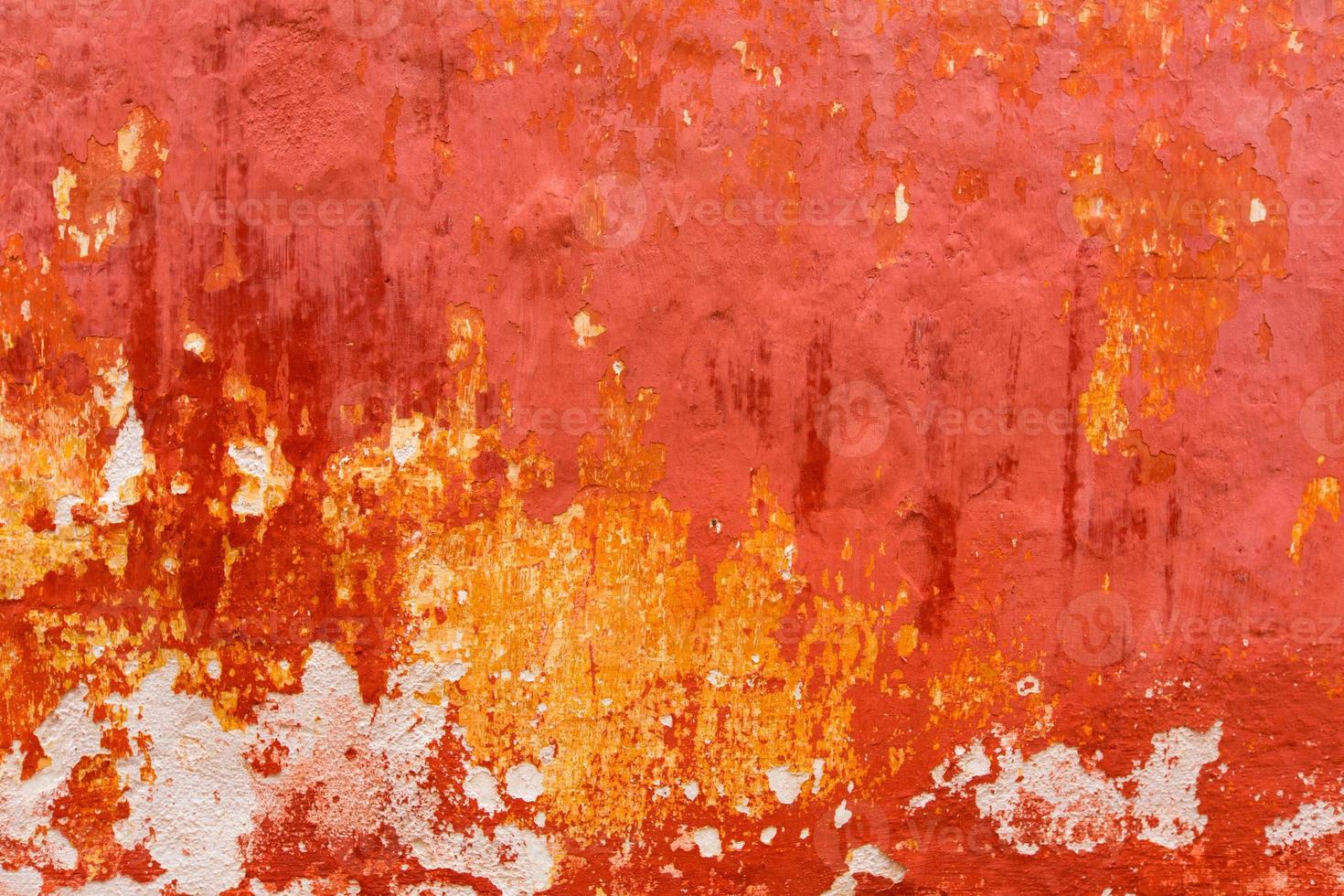 Texture de façade grunge rouge ciutadella de Minorque photo